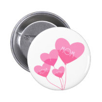 pink heart balloons i love you mom button