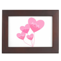 pink heart balloons i love you mom memory box