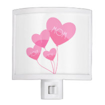 pink heart balloons i love you mom night light