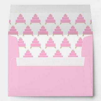 Pink Heart Birthday Cake  A7 Envelope