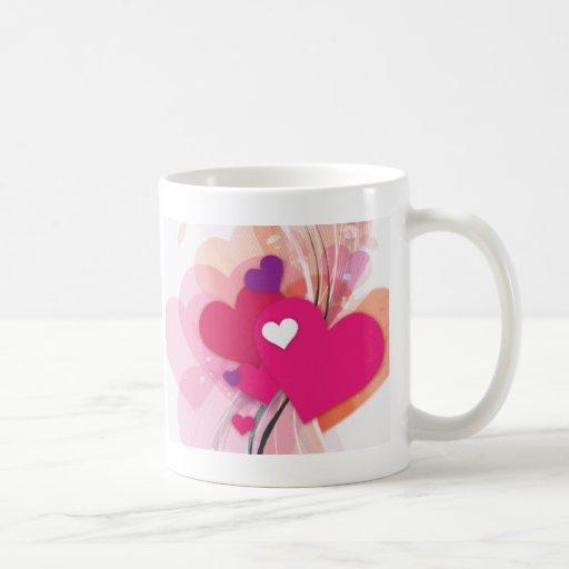 Pink Heart Boquet Classic White Coffee Mug