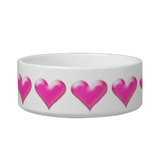 Pink Heart Bowl