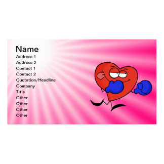 Pink Heart Boxing Double-Sided Standard Business Cards (Pack Of 100)