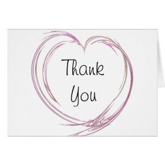 Pink Heart Bridesmaid Thank You Note Card