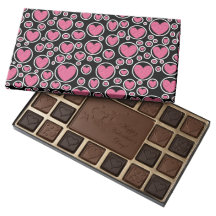 Pink Heart Bubbles Box of Chocolates 45 Piece Assorted Chocolate Box