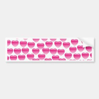 Pink Heart Bumper Sticker