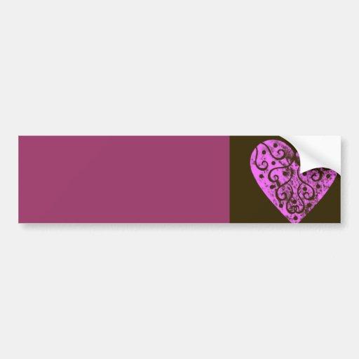 Pink Heart Bumper Stickers