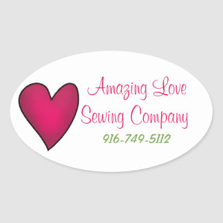 Pink Heart Business Custom Sticker