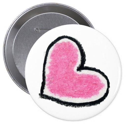 PINK HEART button