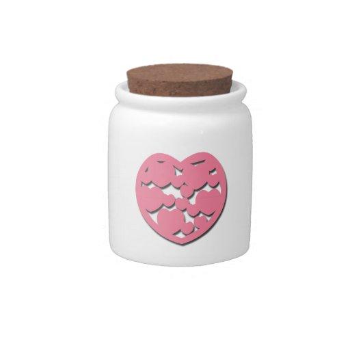 Pink Heart Candy Jar