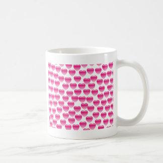 Pink Heart Classic White Coffee Mug
