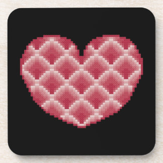 Pink Heart Coasters