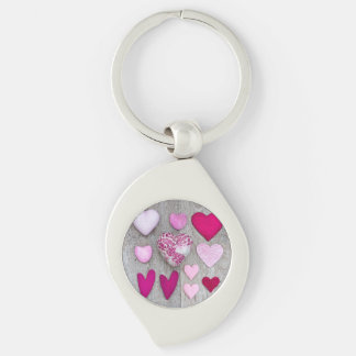 Pink Heart Collection Keychain
