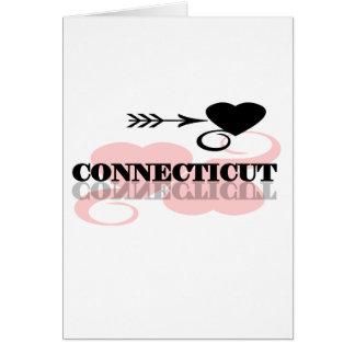 Pink Heart Connecticut Card
