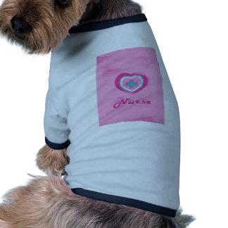 Pink Heart & Cross- Nurse Dog Shirt