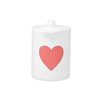 Pink Heart Customizable Teapot