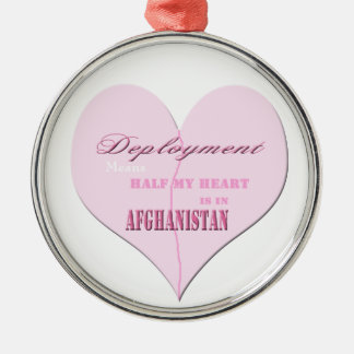 Pink Heart Deployment Afghanistan Ornament