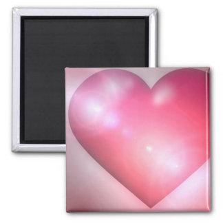Pink Heart Design Square Magnet Fridge Magnet