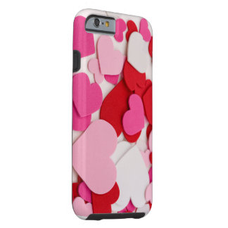 Pink heart designed i phone 6 case tough iPhone 6 case