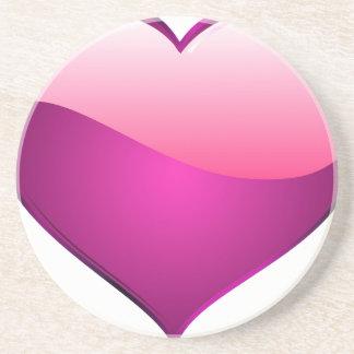 Pink Heart Drink Coaster