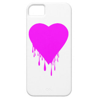 Pink Heart Dripping Paint iPhone SE/5/5s Case