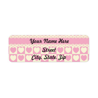 Pink Heart Eyelet Return Address Sticker