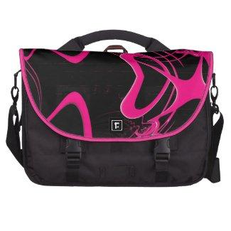 Pink Heart Fractal Commuter Bags