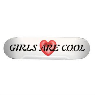 Pink Heart / Girls Are Cool Skateboard