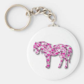 Pink - Heart Horse Keychain