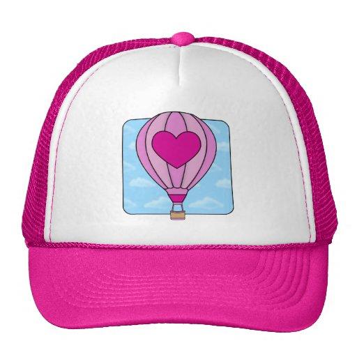 Pink Heart Hot Air Balloon Hat