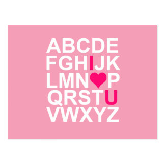 Pink Heart I Love You Postcard