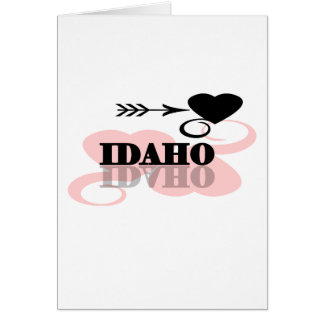Pink Heart Idaho Card