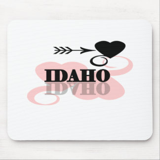 Pink Heart Idaho Mouse Pad