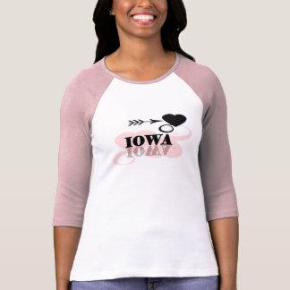 Pink Heart Iowa T-shirt