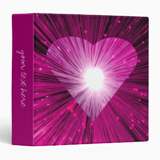 Pink Heart large 'Your Text' Binder