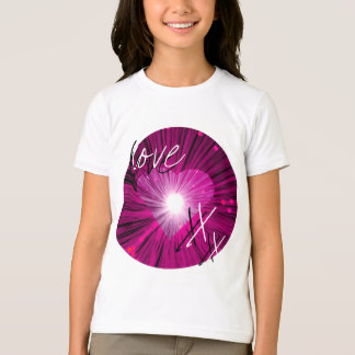 Pink Heart 'Love and kisses' girls' ringer t-shirt