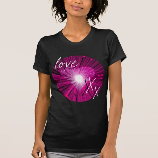 Pink Heart 'Love and kisses' ladies' t-shirt
