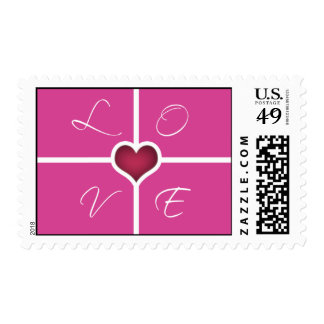 Pink Heart Love Stamps