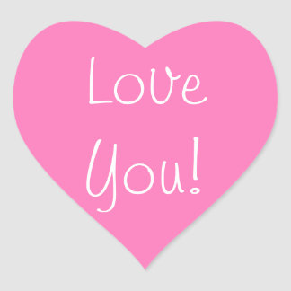 Pink Heart Love You stickers
