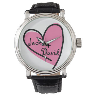 Pink Heart Lover's Retro Watch