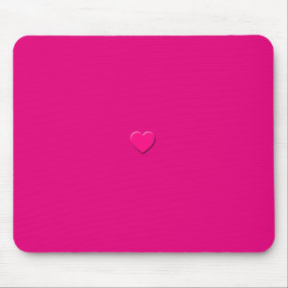 Pink Heart Mausepad Mouse Pad