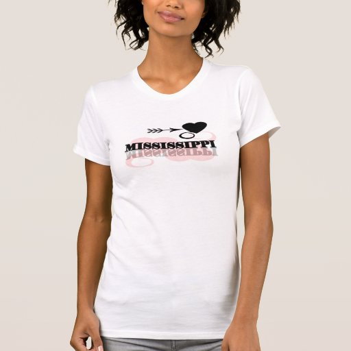 Pink Heart Mississippi Tee Shirt
