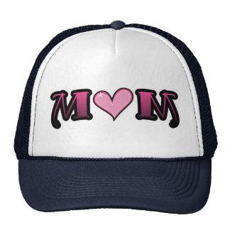 Pink Heart Mom Trucker Hats