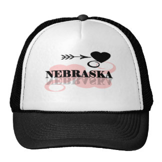 Pink Heart Nebraska Trucker Hat