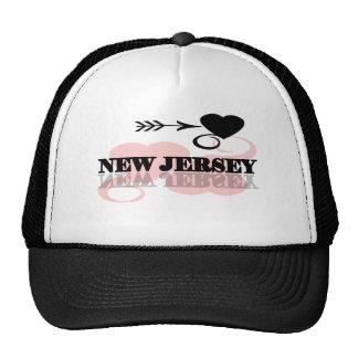 Pink Heart New Jersey Trucker Hat