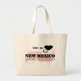 Pink Heart New Mexico Tote Bags