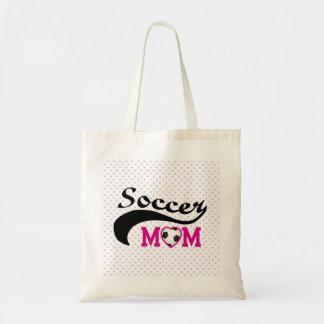 Pink Heart O Soccer Mom Budget Tote Bag