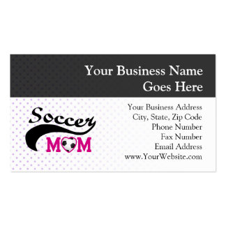 Pink Heart O Soccer Mom Double-Sided Standard Business Cards (Pack Of 100)