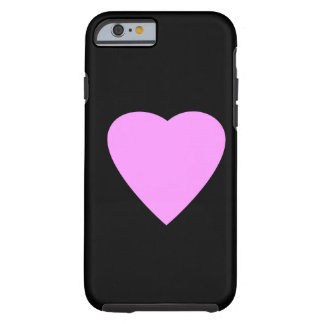 Pink Heart on Black. Tough iPhone 6 Case