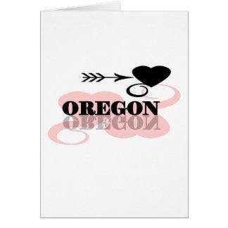 Pink Heart Oregon Card